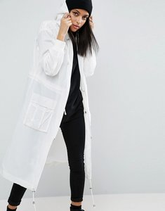 Read more about Asos rainwear parka with mesh lining - white