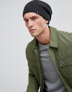Read more about Esprit ribbed beanie in charcoal - 010 anthracite
