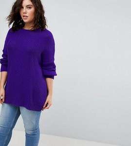 Read more about Asos curve oversized chunky jumper - purple