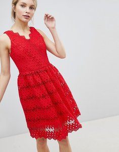 Read more about Glamorous lace skater dress - red
