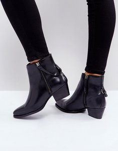 Read more about Hudson london larry black leather ankle boots - black leather