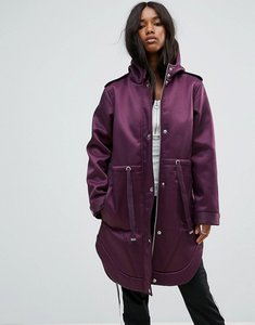Read more about Asos bonded parka with borg lining - purple