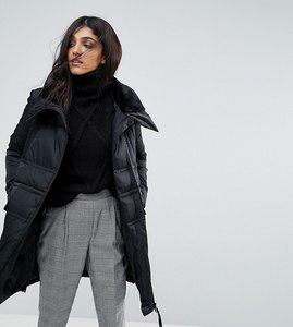 Read more about Vero moda tall down high neck padded jacket - black