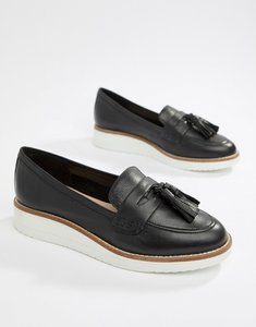 Read more about Aldo leather chunky sole tassel loafers - black leather