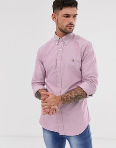 Read more about Polo ralph lauren oxford shirt slim fit button down multi player logo in red marl