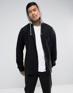 Read more about Asos oversized hooded shirt - black