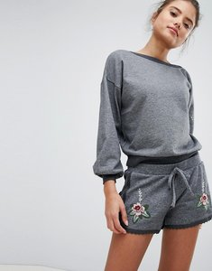 Read more about Hunkemoller knits and pleats embroidered shorts - grey