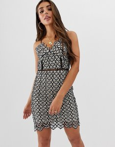 Read more about Missguided crochet detail strappy mini dress - black