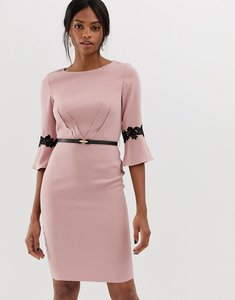Read more about Paper dolls 3 4 sleeve midi dress with flute sleeve