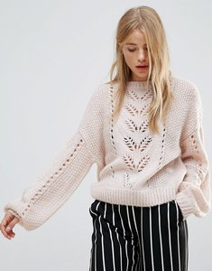 Read more about New look balloon sleeve knit jumper - nude
