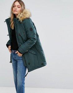 Read more about Vero moda faux fur hooded parka - green gables