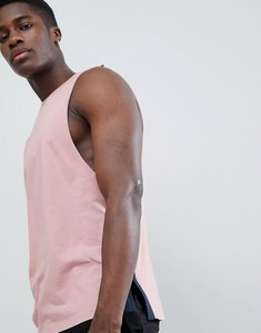 Read more about Asos design vest with dropped armhole and contrast side splits in pink - mrare shaken