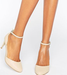 Read more about Asos swallow heels - nude