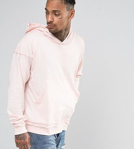Read more about Other uk oversized hoodie with raw edges - pink