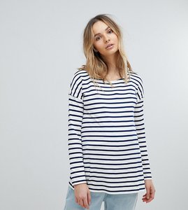 Read more about Isabella oliver relaxed stripe long sleeve t-shirt - navy white