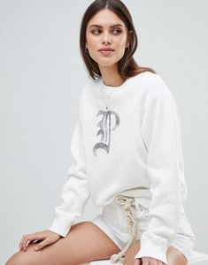 Read more about Polo ralph lauren sweatshirt with metallic script logo - white