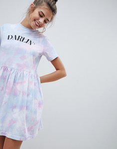 Read more about Asos design tie dye mini smock dress - tie dye