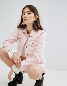 Read more about Dr denim cropped frayed pink jacket - pink ripped