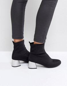 Read more about Park lane heeled sock boots - black lycra