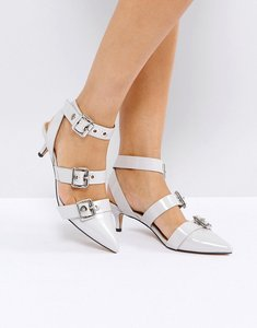 Read more about Asos shanghai kitten heels - grey patent