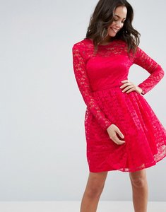 Read more about Asos pretty lace mini prom dress - pink