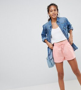 Read more about Asos design tall drawstring runner shorts - pink