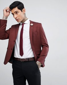 Read more about Harry brown rust jacquard skinny fit party blazer - brown
