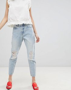 Read more about Vero moda distressed mom jeans - light blue denim