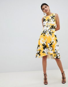 Read more about Asos design scuba shift dress with full hem in shadow floral - floral print