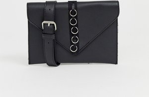 Read more about French connection envelope purse with hardware detail - black