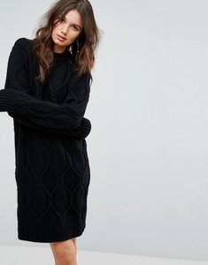 Read more about Y a s knitted jumper dress - black