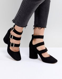Read more about Asos soho mid heels - black