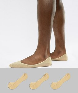 Read more about Polo ralph lauren 3 pack no show socks in beige - khaki