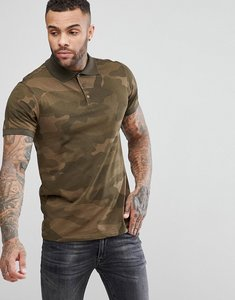 Read more about Pull bear polo in khaki camouflage - khaki