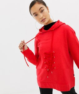 Read more about Noisy may sweatshirt with lace up tie