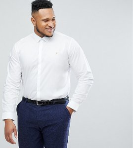 Read more about Farah handford slim fit smart poplin shirt in white - white