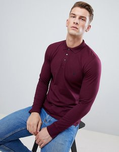 Read more about French connection long sleeve polo shirt - red