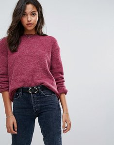 Read more about Esprit drop hem knitted jumper - pink berry