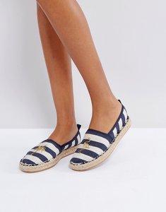 Read more about Bershka stripe palm espadrille shoe - multi