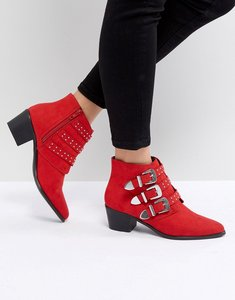 Read more about Miss selfridge western boots - red