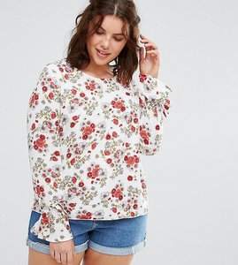 Read more about Alice you floral cluster blouse with tie detail cuff - multi