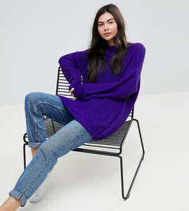 Read more about Asos tall oversized chunky jumper - purple
