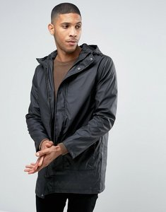 Read more about French connection shine fishtail hooded mac - black
