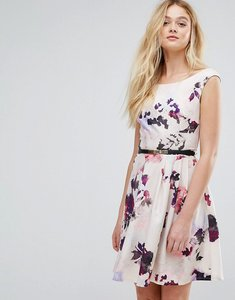 Read more about Little mistress petal print belted prom dress - petal