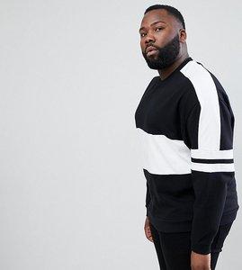 Read more about Asos design plus oversized sweatshirt with colour block - black