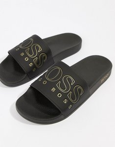Read more about Boss solar sliders gold logo in black - black