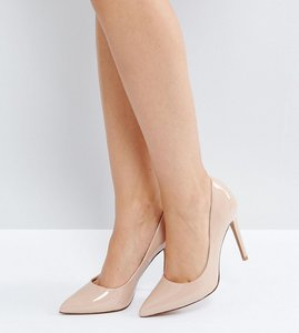 Read more about Asos design wide fit paris pointed high heels - almond