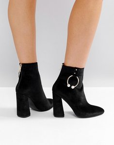 Read more about Public desire paparazzi hoop heeled ankle boots - black