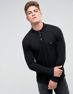Read more about French connection long sleeve polo - black