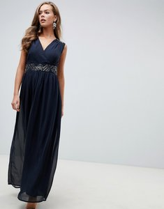Read more about Ax paris navy maxi dress with embellished detail